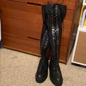 Forever 21 combat lace up boots